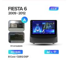 Штатная магнитола FORD FIESTA 6 2009-2018 CC2 4G+64G 4G+WIFI